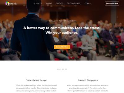 Ascend Presentation design ux ui web