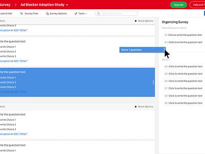 Qualtrics - Build Survey  ui ux design web survey qualtrics