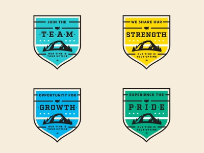 Recruitment Badges team badge texture recruiting tree nature houston texas tx htx usa star