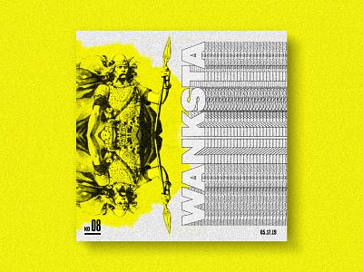 Wanksta 8 wanksta yellow typography type spear viking tx htx texas houston