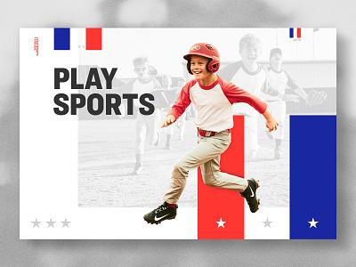 Play Sports sports branding sports design team runner stars stripes helmet boy baseball sports
