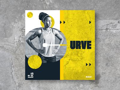 12 Curve concrete yellow workout athlete run sports layout design texture tx htx texas houston