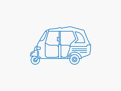 Tuk Tuk line icon tuk tuk line tuktuk