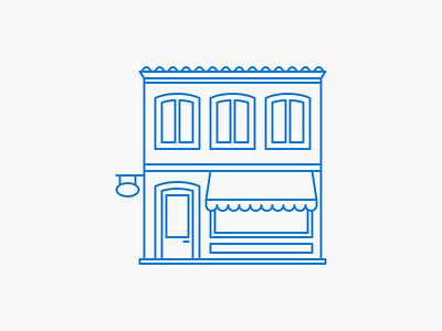 Shop icon line icon outline line icon shop