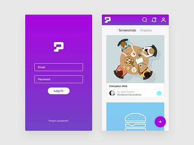 SneakPic - mobile version login log in sneakpic mobile responsive webdesign app website ux ui