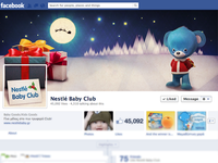 Xmas illustration for Nestle baby club facebook page
