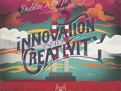 Huskies poster graphic design typography illustration handlettering