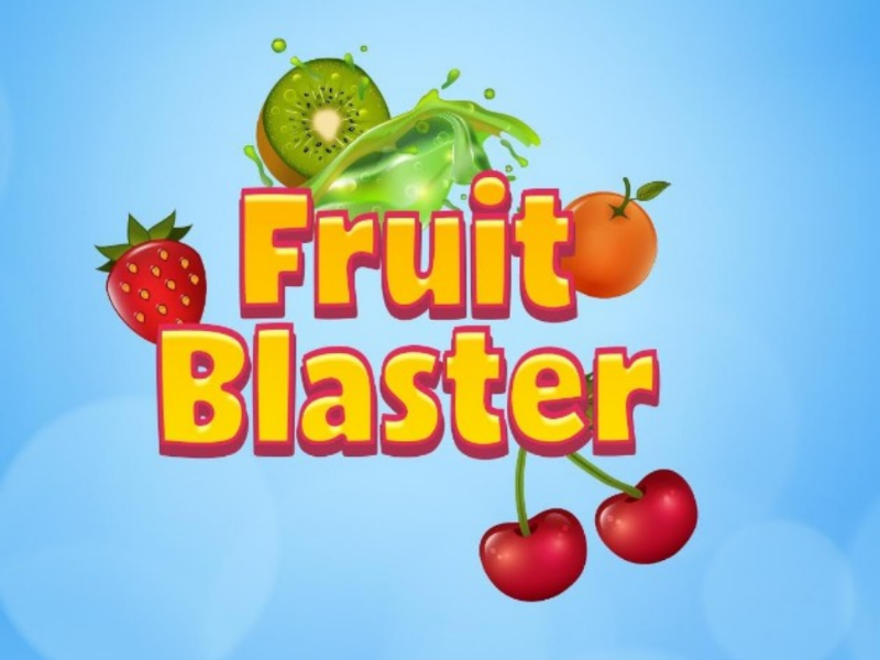 Fruit Blaster Game Screen typogaphy welcome ui game design design ui enjoy fun fruit game screen