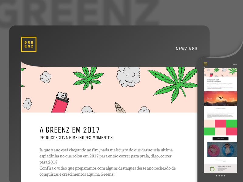 Greenz newsletter study for new visual study e-mail email newsletter