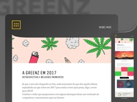 Greenz newsletter study for new visual