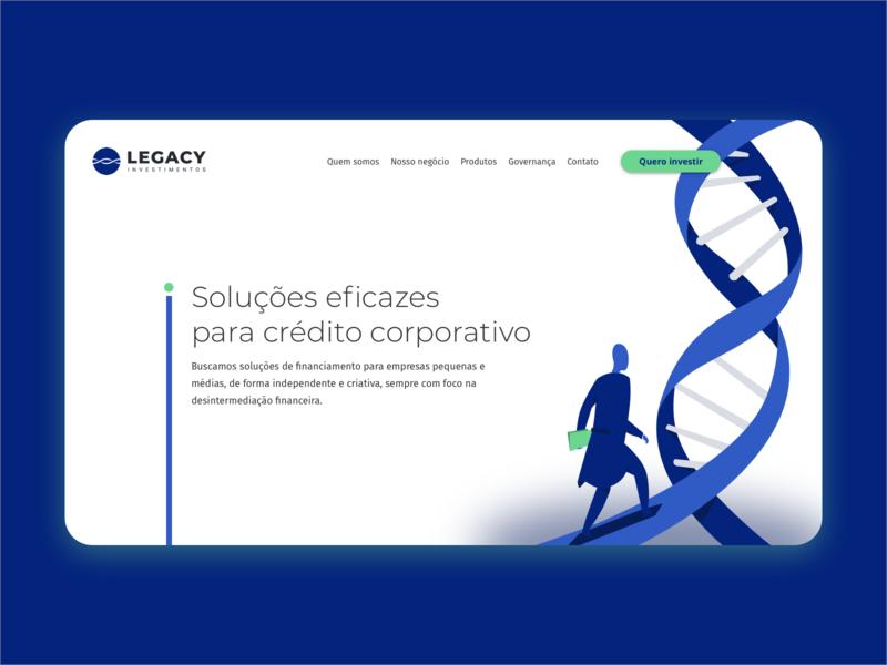 Legacy Investments Header Study website illustration ui design ux investment investing
