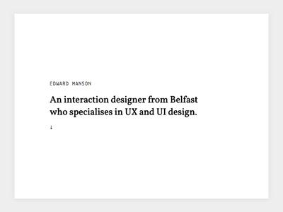 2017 Portfolio Homepage Design