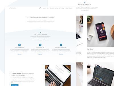 Whitespace Website desktop grey web design product interface web design icons website blue ui