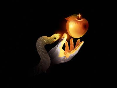 surreal1ty surreality apple hand snake