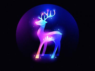 xmas fairytale fairytale winter deer xmas