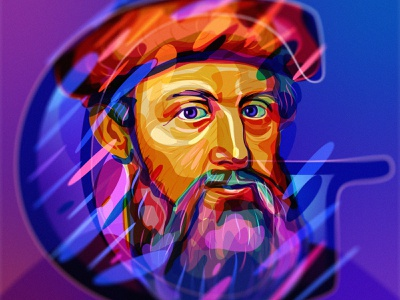 Gutenberg illustration gutenberg portrait
