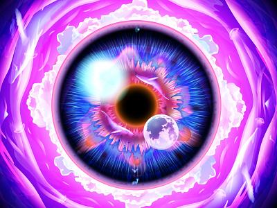 Dream digital art graphic design illustration light overlay color fantasy dream space eye