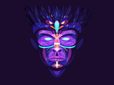 Shaman overlay spirit bird eagle shaman