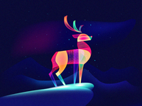 Fantasy Light Reindeer
