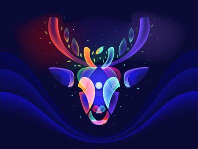 Fantasy Light Reindeer 3