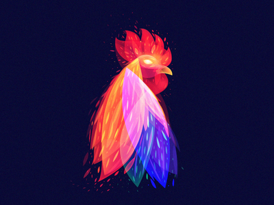 Fantastic Rooster2 overlay light fire flame rooster