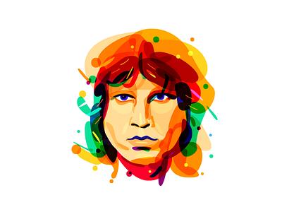 Psychedelic Morrison color overlay morrison jim psychedelia
