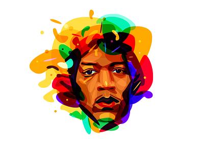 Psychedelic Hendrix color overlay hendrix jimi psychedelia