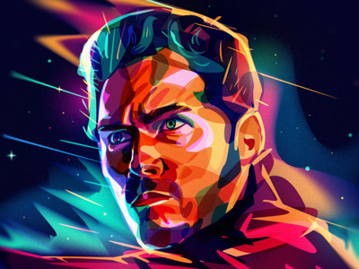 Star Lord spae portrait starlord galaxy of guardians