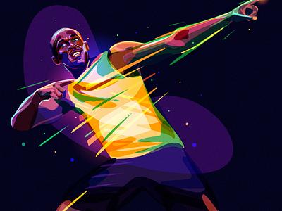 Usain Bolt jamaica color portrait winner olympic runner star bolt