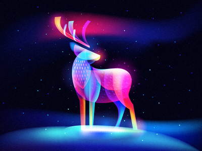 New Fantasy Light Reindeer dream magic snow winter christmas deer reindeer