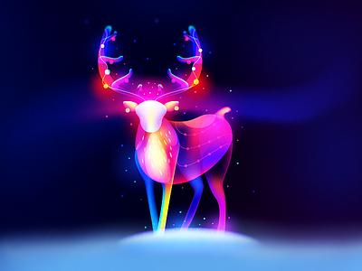 X Mas Deer dream magic snow winter christmas deer reindeer