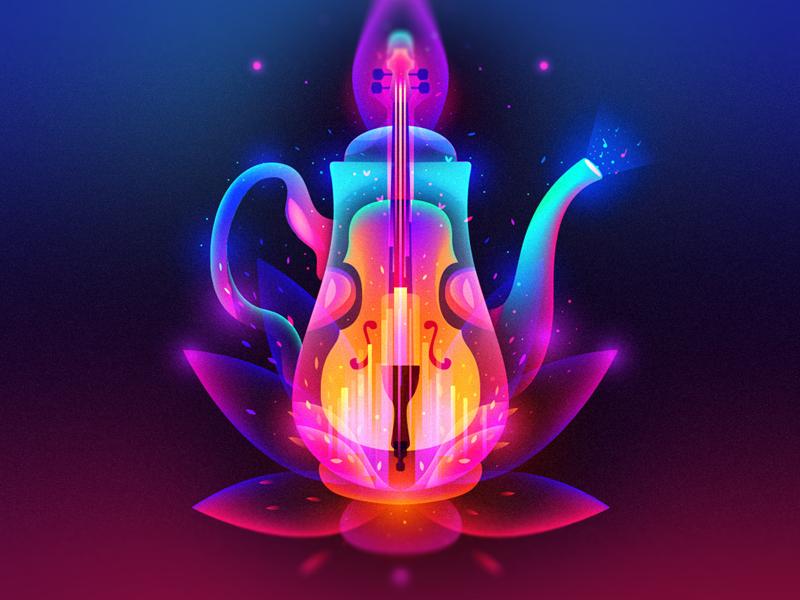Musical Kettle flower fantasy kettle music