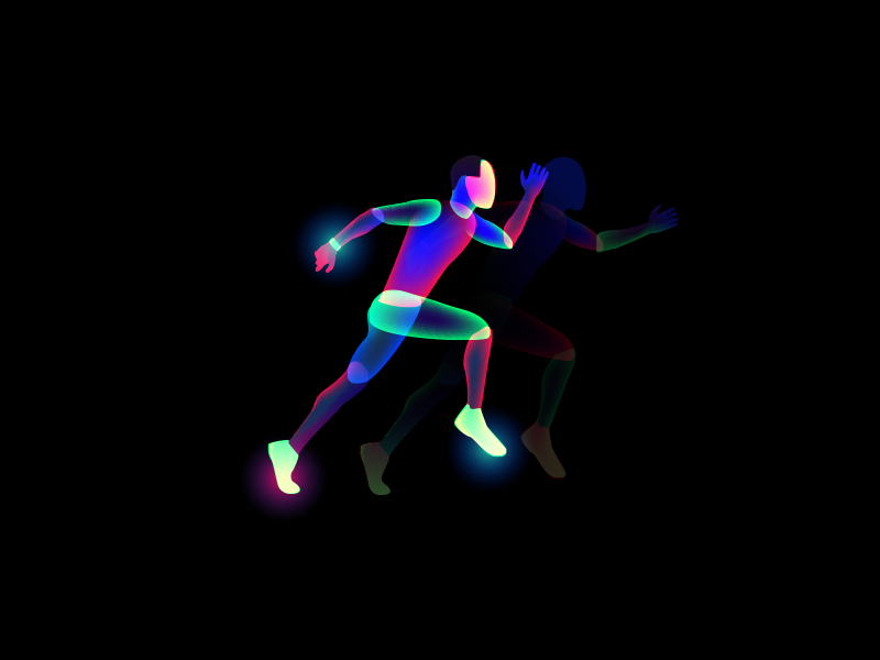 Aura Runner run illustration aura