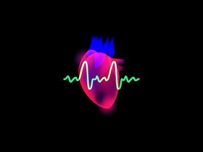 Aura Pulse run heart illustration aura