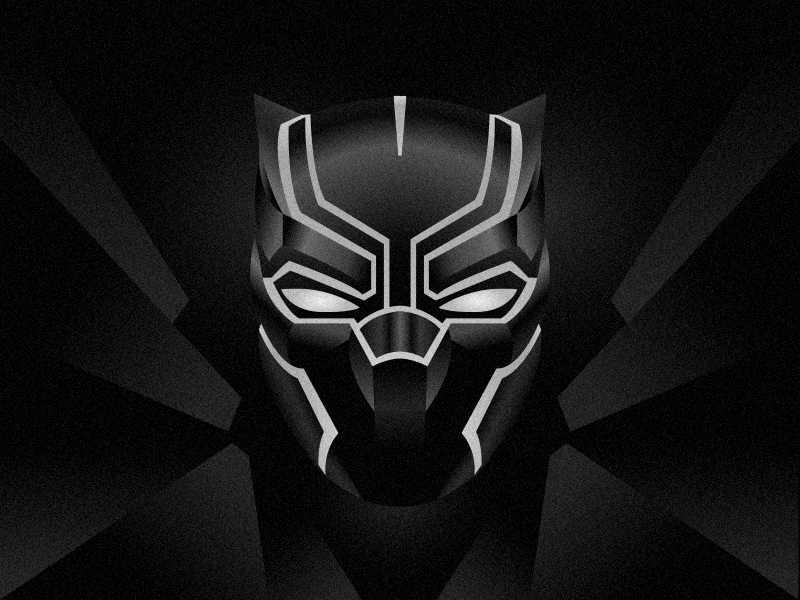 Black Panther marvel illustration panther black