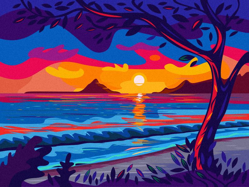 Hawaii landscape sunrise hawaii