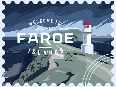 Faroe Islands fantastic stamp mark islands faroe
