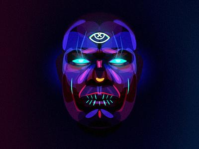 Voodooeye eye shaman portrait voodoo