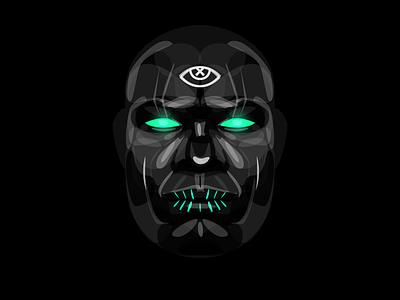 Voodooeye Darkness dark eye shaman portrait voodoo