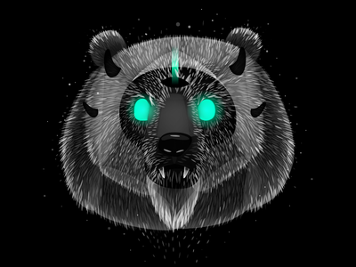 Dark Bear animal bear nightmare darkness