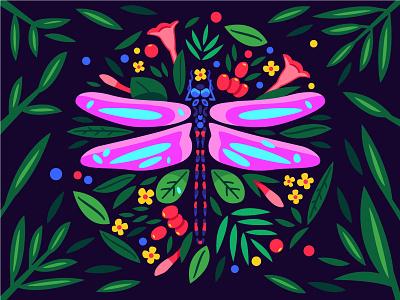 Dragonfly flower plants dragonfly