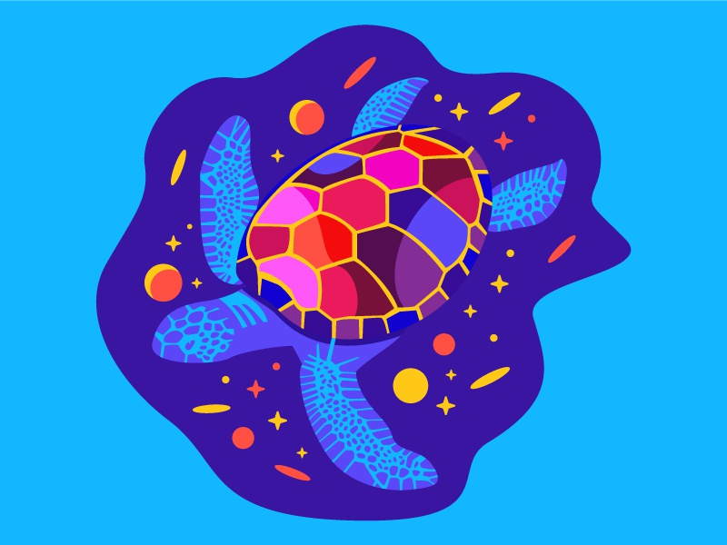 Turtle ocean space turtle