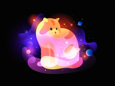 space cat fantasy galaxy space cat
