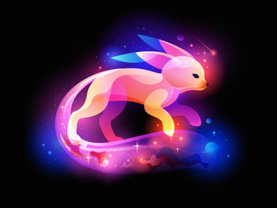 space foxy fantasylight dream space baby fox