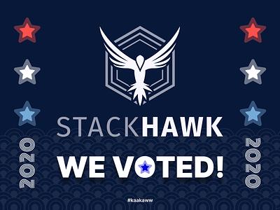 We Voted! america usa democracy kaakaww voted vote2020 vote