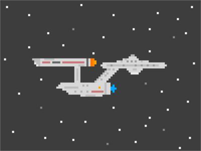 Pixel NC-1701 universe star trek starship spaceship pixels pixel art enterprise space