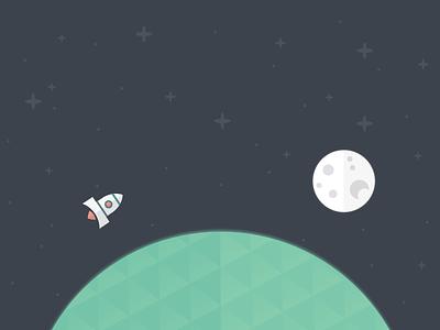 Earth Illustration illustration stars space rocket earth planet