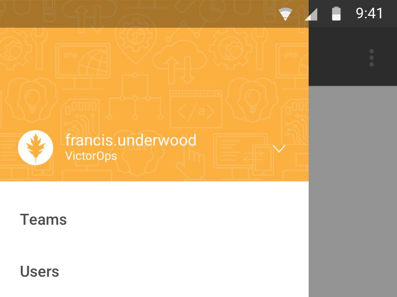 Mobile menu mobile menu material android