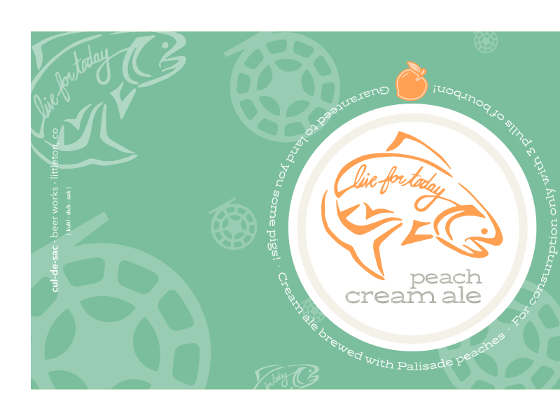 Peach Cream Ale fly fishing trout homebrew peach fish label beer