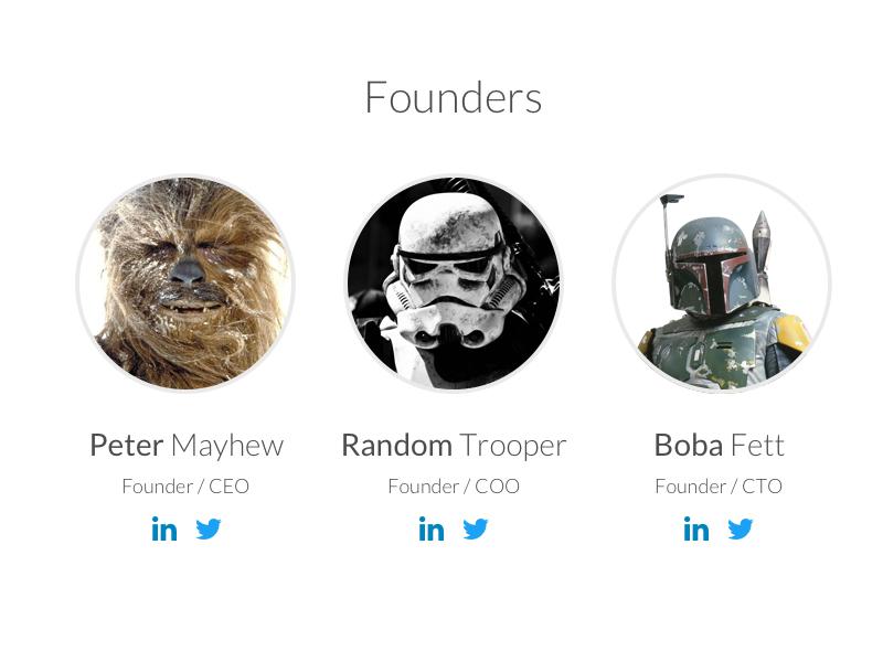 Founders avatar linkedin twitter boba fett storm trooper profile wookie star wars